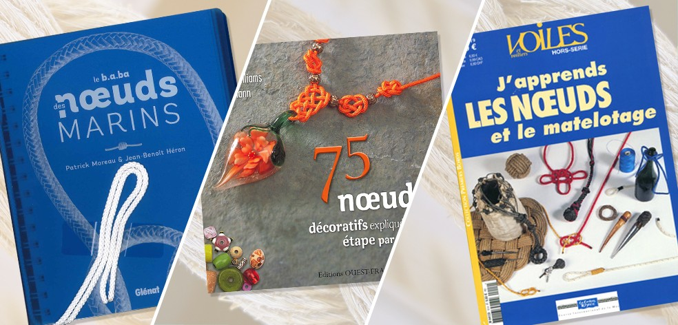 Une sélection de livres sur les nœuds marins et décoratifs